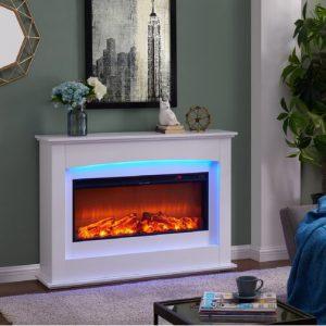 Bodnar Poplar Electric Fire Suite