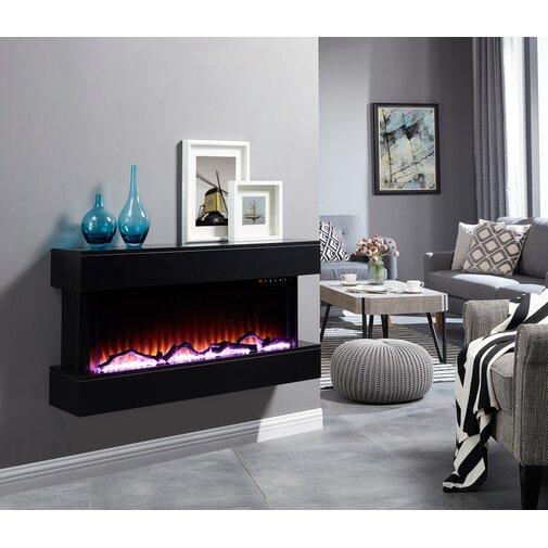 Hubler Wall Mounted Electric Fireplace